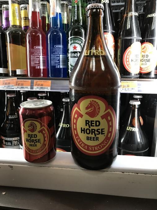 フィリピンのローカルなお店でよく見かけるビールだそうです、大きい!